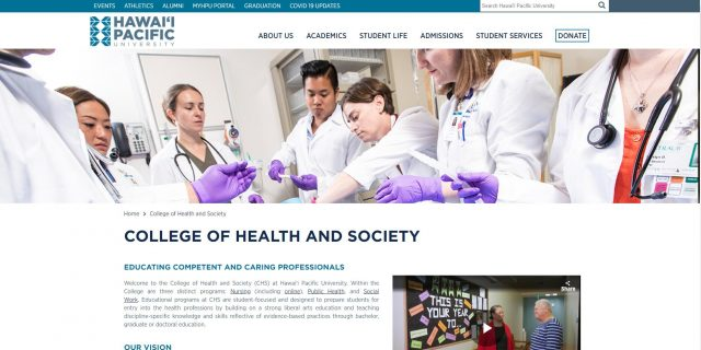 College of Health and Society - Hawaii Pacific University